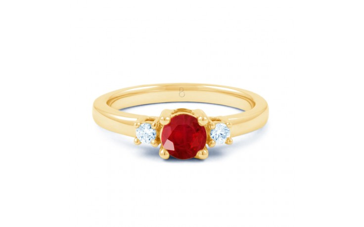 Ruby 3 Stone Gold Ring product image 1