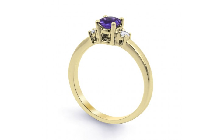 Tanzanite 3 Stone Gold Ring  product image 2