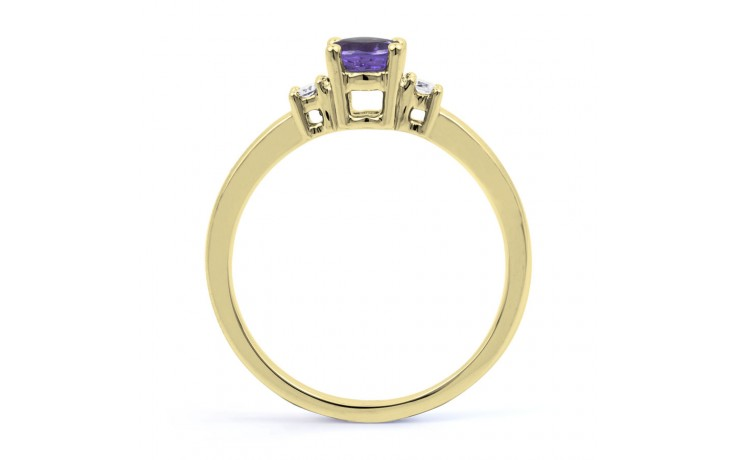 Tanzanite 3 Stone Gold Ring  product image 3