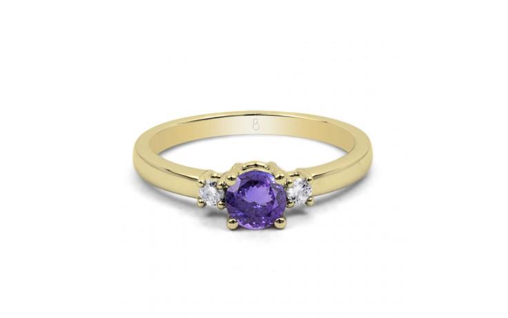 Tanzanite 3 Stone Gold Ring  product image 1