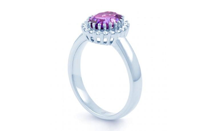 Amethyst & Diamond Halo Ring product image 2