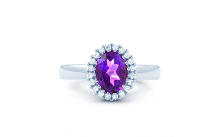 Amethyst & Diamond Halo Ring product image 1