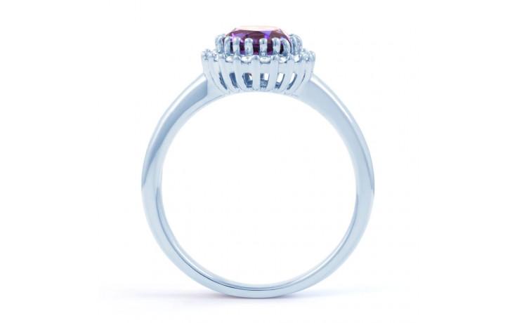 Amethyst & Diamond Halo Ring product image 3