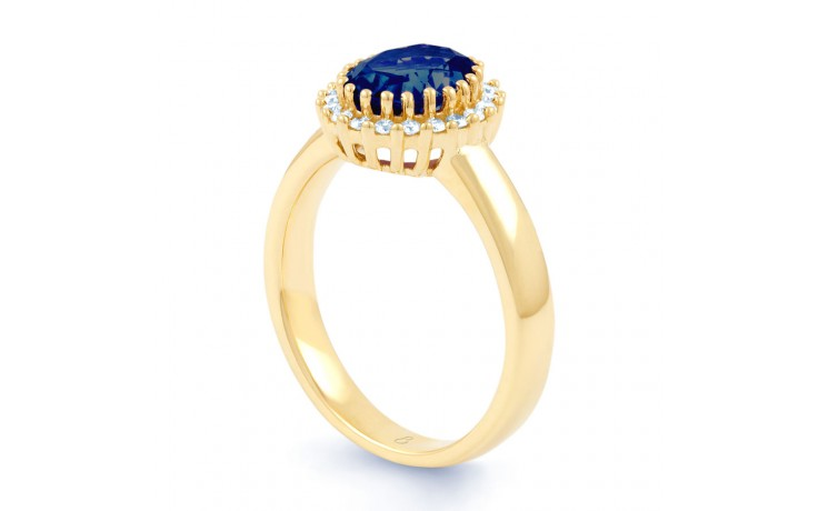 Blue Sapphire Halo Gold Ring product image 2