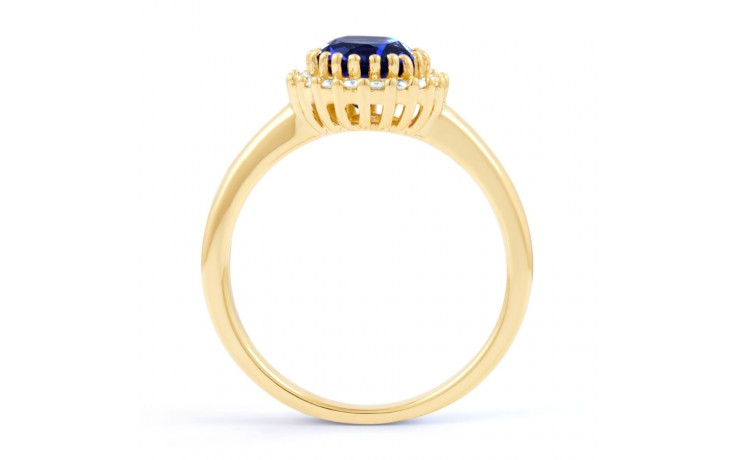 Blue Sapphire Halo Gold Ring product image 3