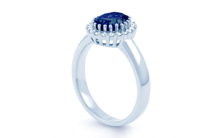 Blue Sapphire Halo Ring product image 2