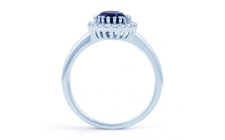 Blue Sapphire Halo Ring product image 3