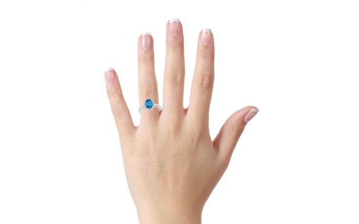 Blue Topaz & Diamond Halo Ring product image 4