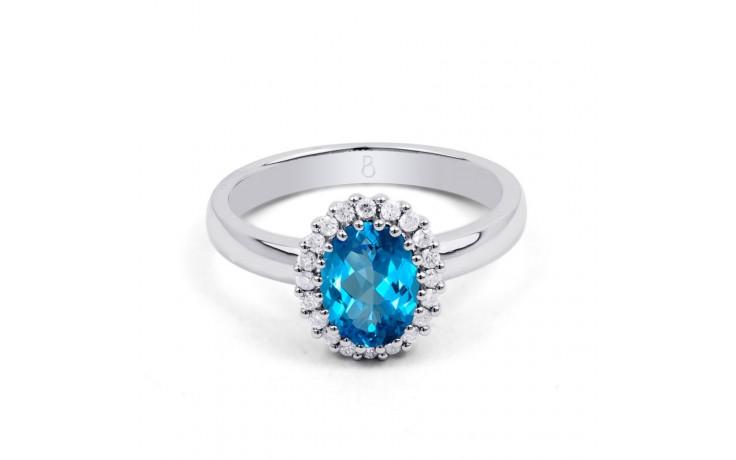 Blue Topaz & Diamond Halo Ring product image 1