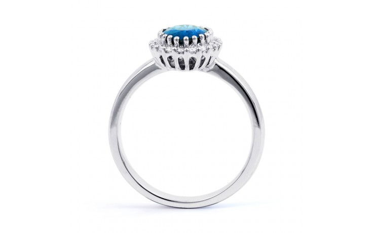 Blue Topaz & Diamond Halo Ring product image 3