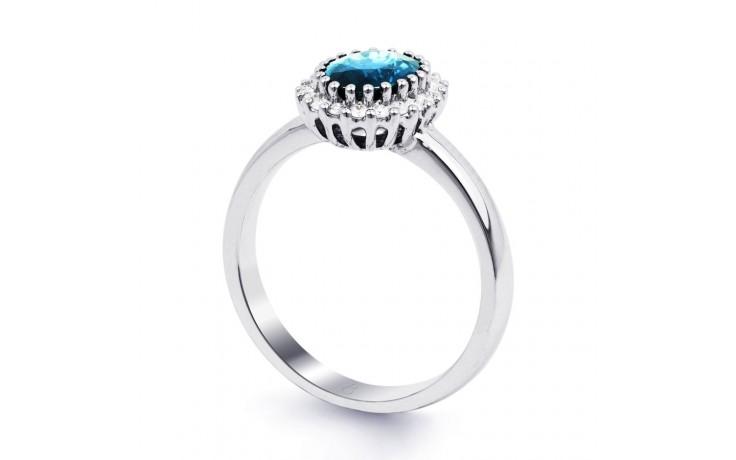 Blue Topaz & Diamond Halo Ring product image 2