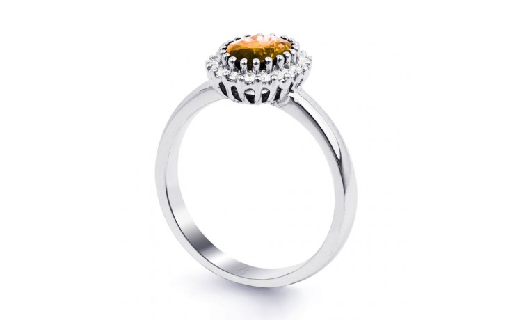 Citrine & Diamond Halo Ring  product image 2