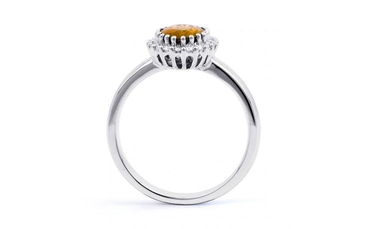 Citrine & Diamond Halo Ring  product image 3