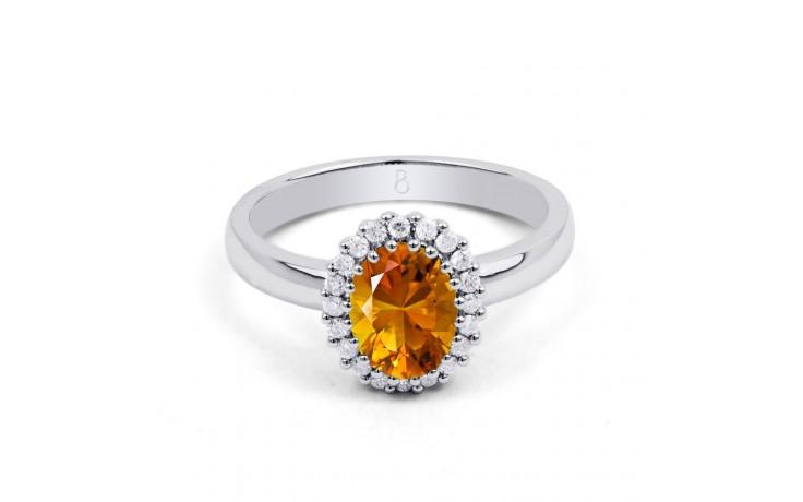 Citrine & Diamond Halo Ring  product image 1
