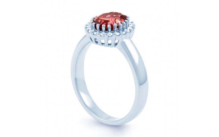 Ruby Halo Engagement Ring product image 2