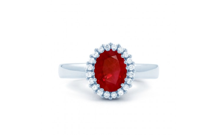 Ruby Halo Engagement Ring product image 1