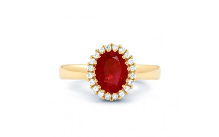 Ruby Halo Gold Engagement Ring product image 1