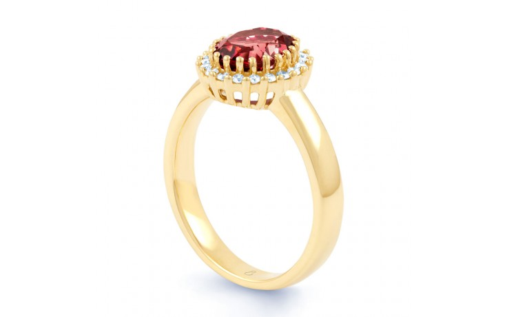 Ruby Halo Gold Engagement Ring product image 2