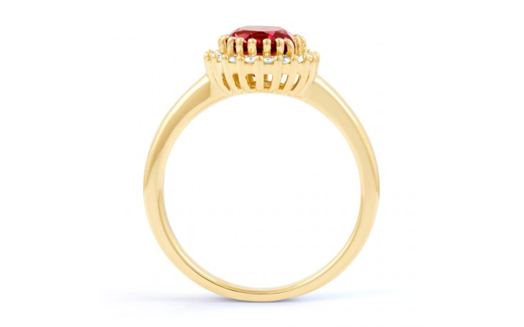 Ruby Halo Gold Engagement Ring product image 3