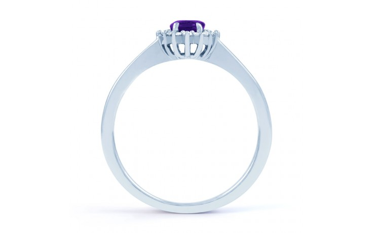 Floral Amethyst & Diamond Ring product image 3