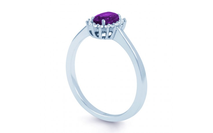 Floral Amethyst & Diamond Ring product image 2