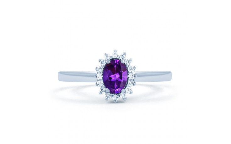 Floral Amethyst & Diamond Ring product image 1