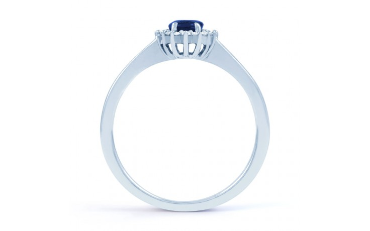Blue Sapphire Floral Ring product image 3