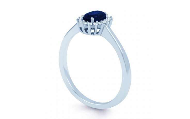 Blue Sapphire Floral Ring product image 2
