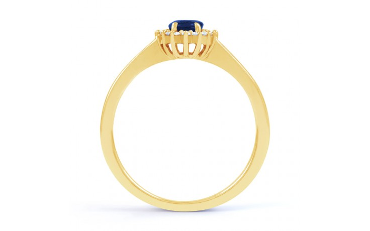 Blue Sapphire Gold Floral Ring product image 3