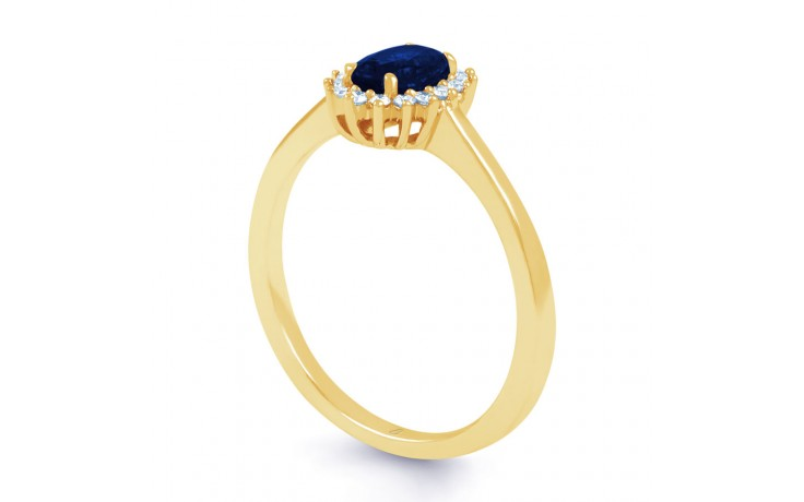 Blue Sapphire Gold Floral Ring product image 2