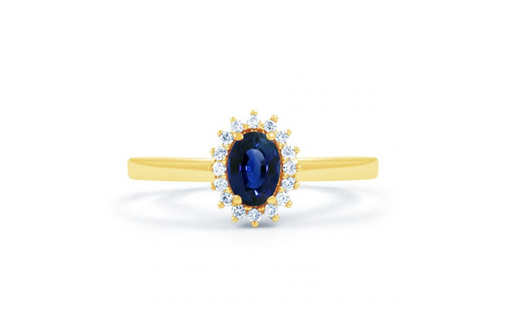 Blue Sapphire Gold Floral Ring product image 1