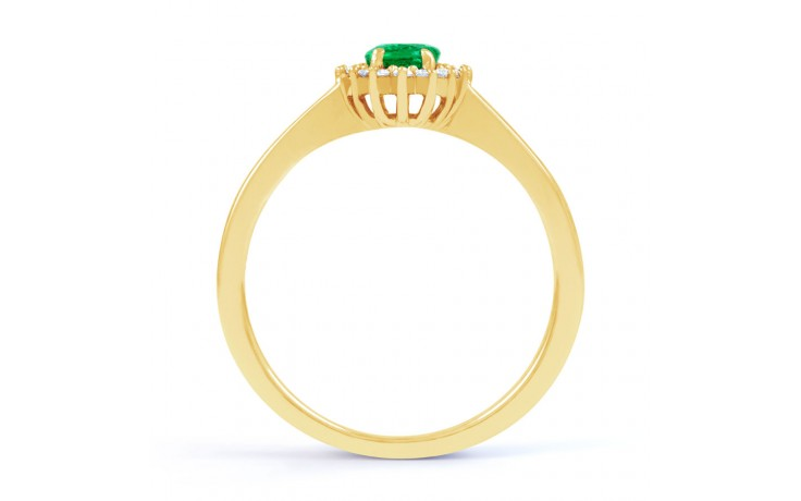 Emerald Floral Gold Ring  product image 3