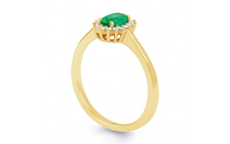 Emerald Floral Gold Ring  product image 2