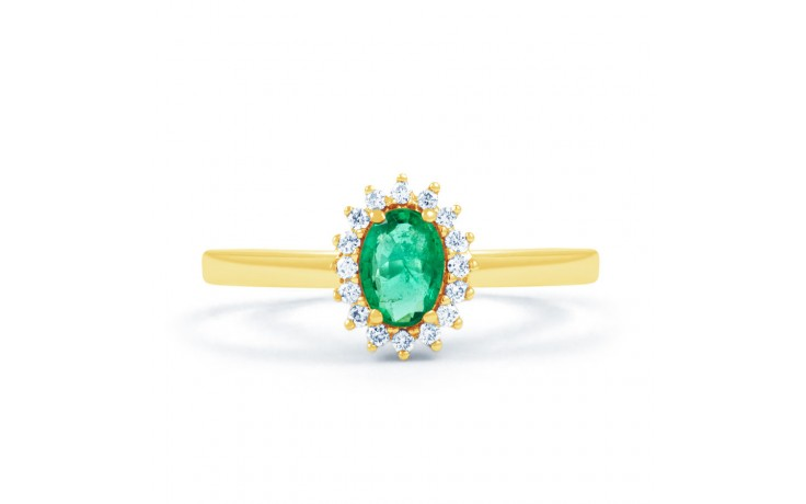 Emerald Floral Gold Ring  product image 1