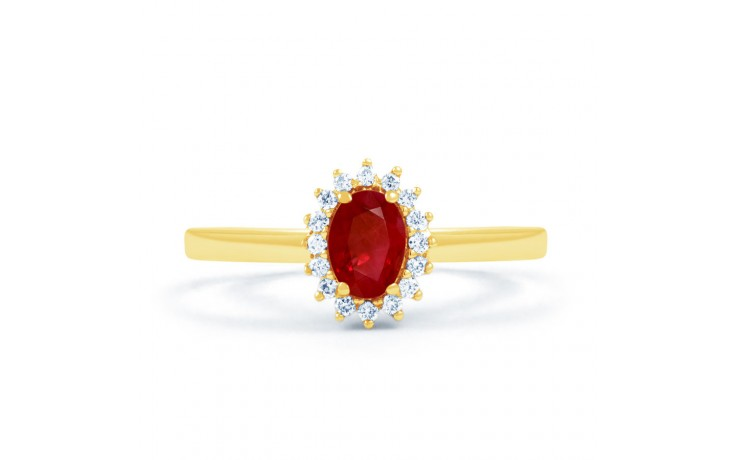 Floral Ruby Gold Ring product image 1