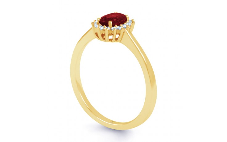 Floral Ruby Gold Ring product image 2