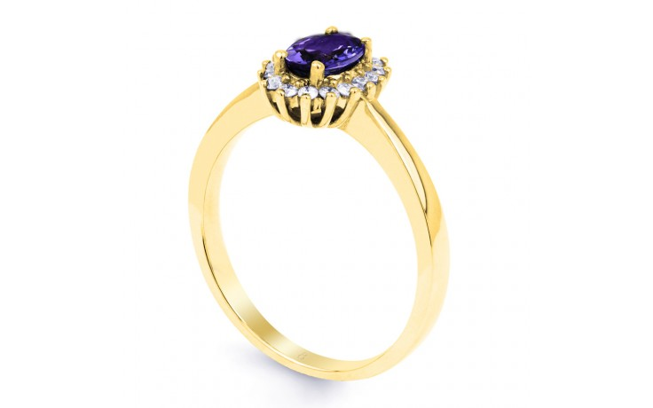 Floral Tanzanite Gold Ring product image 2