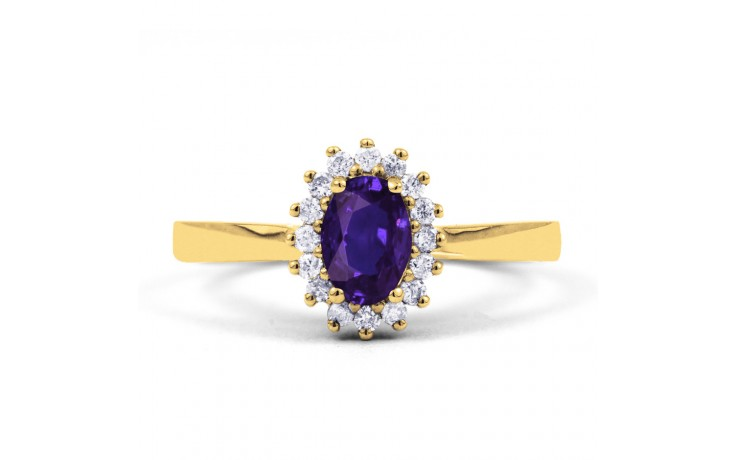 Floral Tanzanite Gold Ring product image 1
