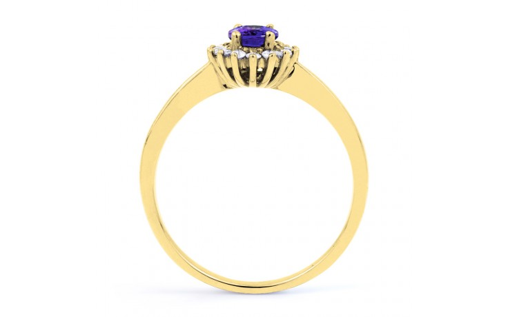 Floral Tanzanite Gold Ring product image 3