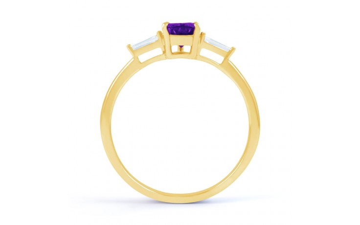 Amethyst Diamond Pear Gold Ring product image 3