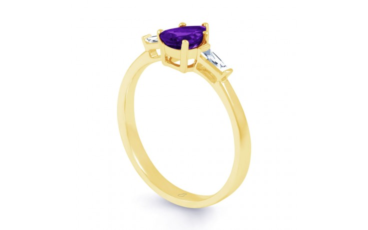 Amethyst Diamond Pear Gold Ring product image 2