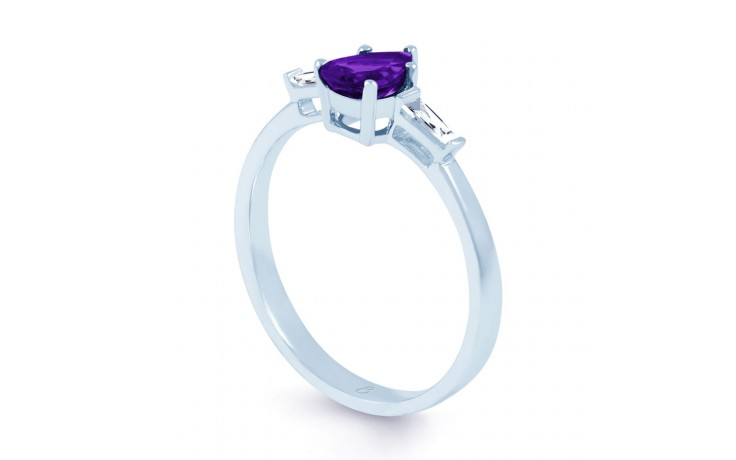 Amethyst Diamond Pear Ring product image 2