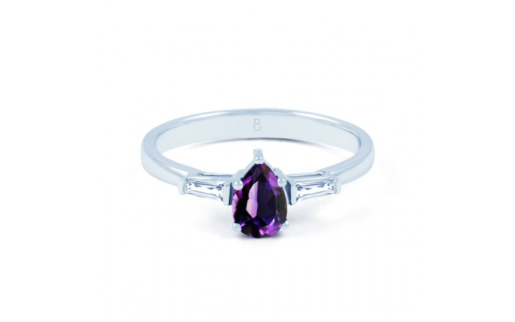 Amethyst Diamond Pear Ring product image 1