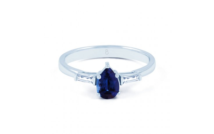 Blue Sapphire Pear Ring product image 1