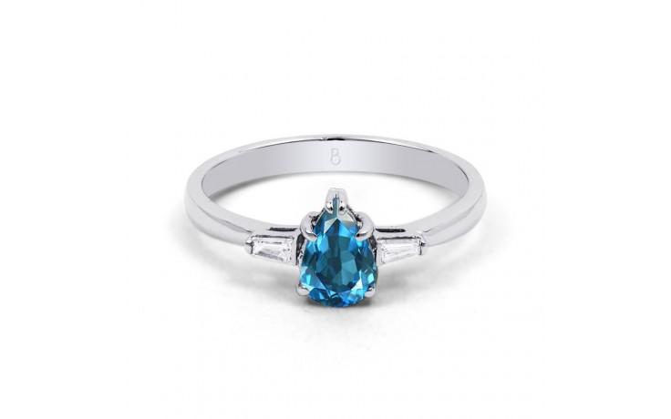 Blue Topaz Diamond Pear Ring product image 1