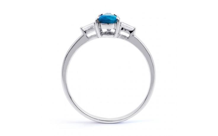 Blue Topaz Diamond Pear Ring product image 3
