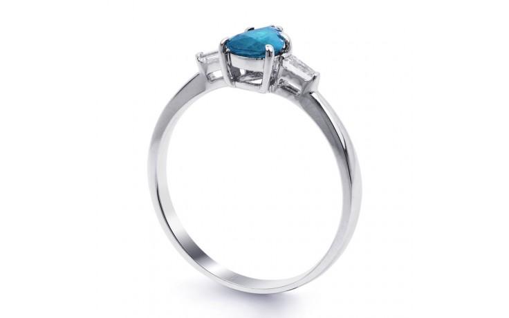 Blue Topaz Diamond Pear Ring product image 2