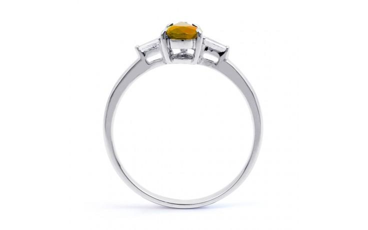 Citrine & Diamond Pear Ring product image 3