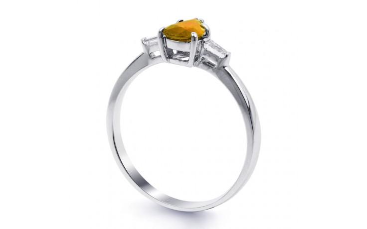 Citrine & Diamond Pear Ring product image 2