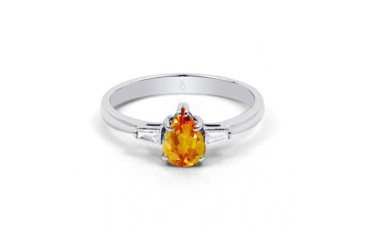 Citrine & Diamond Pear Ring product image 1